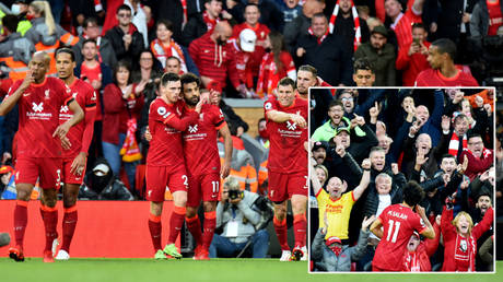 Mohamed Salah starred as Liverpool drew 2-2 with visitors Man City © Peter Powell / Reuters