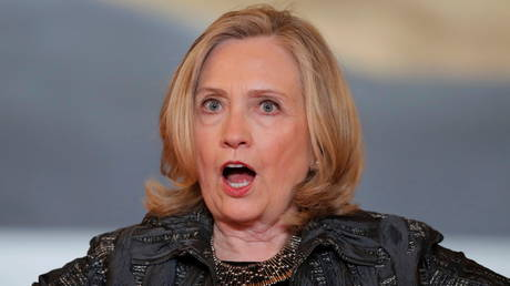File photo: Former US Secretary of State Hillary Clinton at the Generation Equality Forum in Paris, France, June 30, 2021.