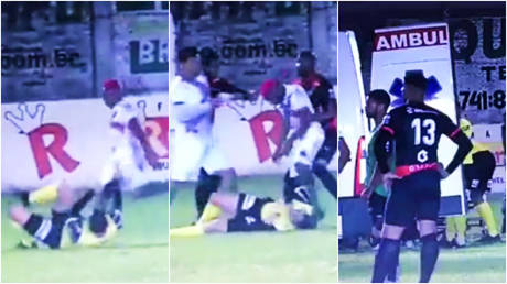 A referee has been the subject of a sickening attack in Brazil © Twitter / divisaodeacesso