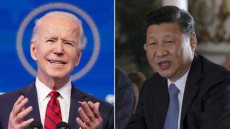 (L) Joe Biden © REUTERS / Kevin Lamarque; (R) Xi Jinping © REUTERS / Carlos Barria