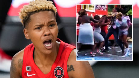 A WNBA star has apologized for a violent video © Dale Zanine / USA Today Sports via Reuters   © tweentween3