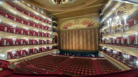 FILE PHOTO. Main stage auditorium at the Bolshoi Theater in Moscow, Russia.