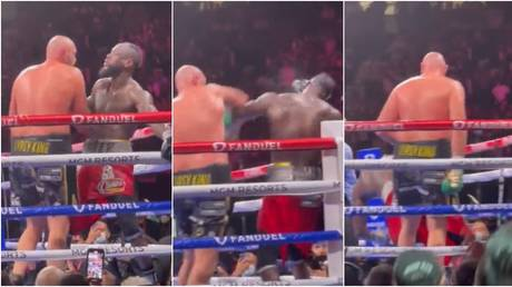 Fury stopped Wilder with a devastating finish in round 11. © Twitter @TJay