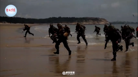 Chinese army practices beach landing amid mounting tensions with Taiwan (VIDEO)