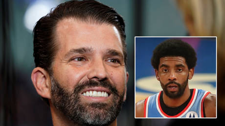 'Kyrie just sacrificed more than Kaepernick ever did': Donald Trump Jr wades into vaccination row over NBA star Irving