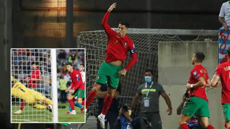 Cristiano Ronaldo scores a hat-trick for Portugal against Luxembourg © Pedro Nunes / Reuters