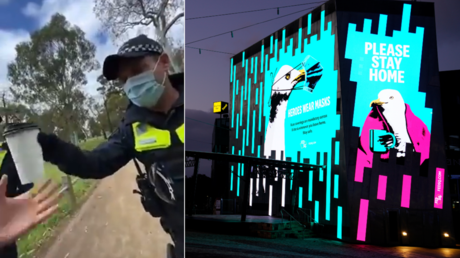 'Coffee cup Gestapo': Australian cops slammed for checking man's beverage to verify his excuse for not wearing Covid-19 mask