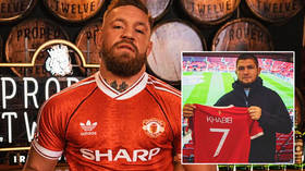'Living rent-free in his head': McGregor posts picture wearing Man Utd jersey – just hours after Khabib's visit to Old Trafford