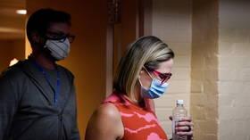 Activists blasted for 'sickening' bathroom stalking of Senator Kyrsten Sinema, sharing video of grilling over stalled Dem bill