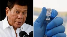'Jab 'em in their sleep': Philippines' Duterte proposes new way of tackling vaccine hesitancy