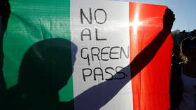 Opposition is growing against Italy's heavy-handed imposition of mandatory Covid vaccine passes for ALL workplaces