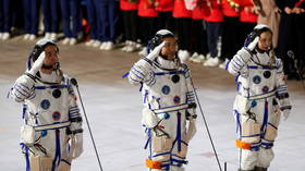 China's Shenzhou-13 craft successfully docks to Tiangong space station & 3 astronauts enter core module