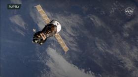 Russia's pioneering space movie crew undocks from ISS aboard Soyuz MS-18
