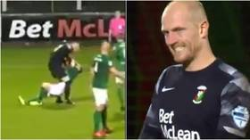 'Madness': Goalkeeper viciously attacks own teammate after conceding equalizer during game in Northern Ireland (VIDEO)