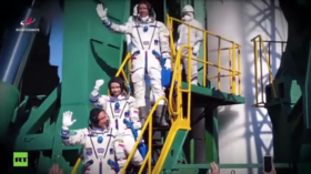 WATCH world-first Russian space movie crew's ISS mission, from launch to landing in 2 minutes