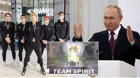 Krem de la krem: Putin congratulates Russian eSports stars Team Spirit after they scoop $18 million world title prize