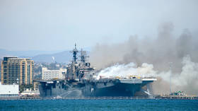 Lack of 'basic firefighting knowledge,' failed drills & poor leadership blamed for loss of US Navy warship to five-day fire