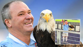 Falconer axed over fascist support at football match blames his 'right-wing culture', proudly praises dictators Mussolini & Franco