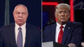 Why is Colin Powell venerated by liberals despite the fact he's a war criminal? Because he was rude about Trump, of course