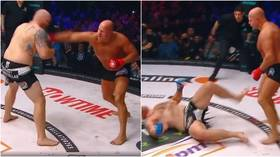 WATCH: Russian MMA icon Fedor Emelianenko claims sensational KO win over US rival Johnson at Bellator homecoming in Moscow (VIDEO)