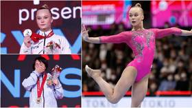 'Took gold from her': Gymnastics judging row erupts as Russian star Melnikova loses title after Japanese rival's score upgraded