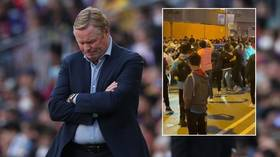 Barcelona boss Koeman's car mobbed by furious fans following loss to bitter rivals Real Madrid in El Clasico (VIDEO)