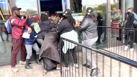 'Let Kyrie play': Protesters breach barriers outside New York arena, demand that Brooklyn Nets reinstate unvaccinated star Irving