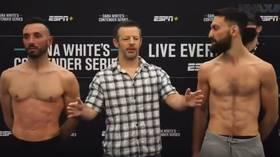 Israeli UFC hopeful Oron Kahlon calls Afghan opponent Javid Basharat 'a terrorist' during testy exchange at weigh-in (VIDEO)