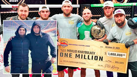 Hitting the jackpot: MMA ace wins $1MN before hailing Nurmagomedov & father... but fans are unconvinced by comparisons to UFC icon