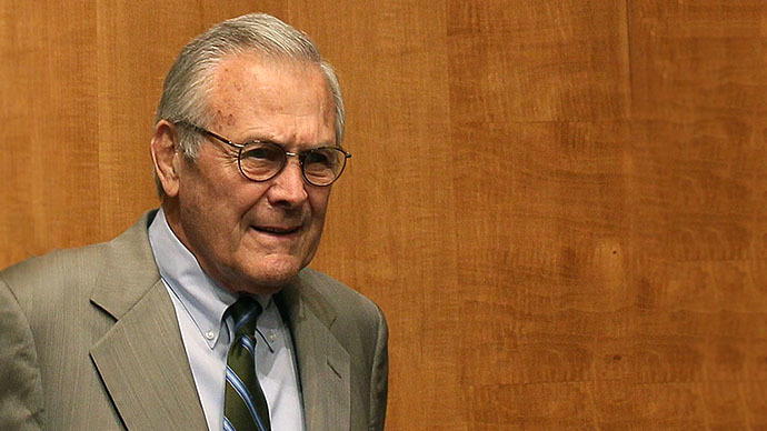 No apologies: Donald Rumsfeld