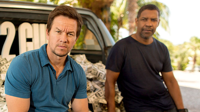 Two Guns: Denzel Washington and Mark Wahlberg