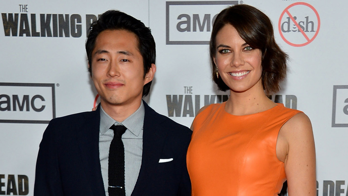 The Walking Dead: Steven Yeun and Lauren Cohan