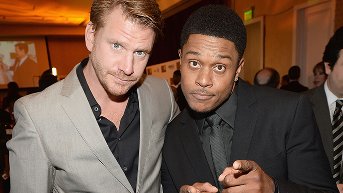 Dash Mihok and Pooch Hall
