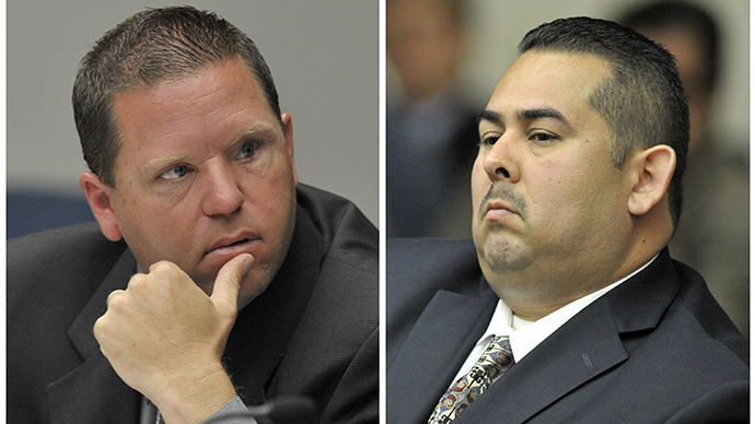 Two officers acquitted in fatal beating of homeless schizophrenic man