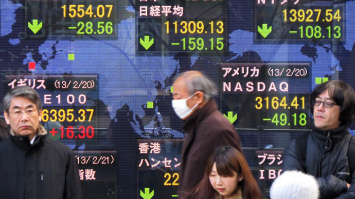 World stocks fall on possible Fed cut in stimulus
