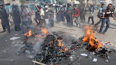 At least 32 killed in Bangladesh uproar over 'blasphemous blogging' (PHOTOS, VIDEO)