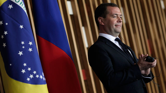 'Ours is a young civil society and a young, developing democracy' – Medvedev to O Globo