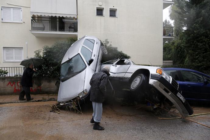 suburb north of Athens February 22, 2013. (Reuters/John Kolesidis