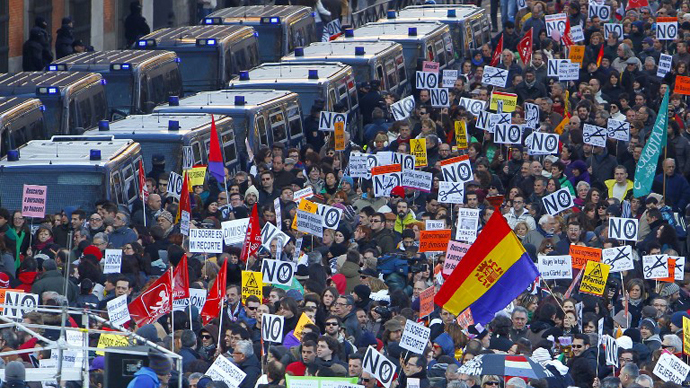 'Citizens' tide' of anti-austerity protests hit Spain (PHOTOS) - RT News