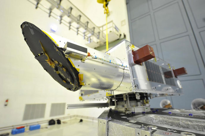 Unfinished NEOssat satellite (Photo from prject's official website http://neossat.ca)