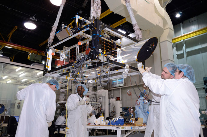 Assembly of NEOssat satellite (Photo from prject's official website http://neossat.ca)