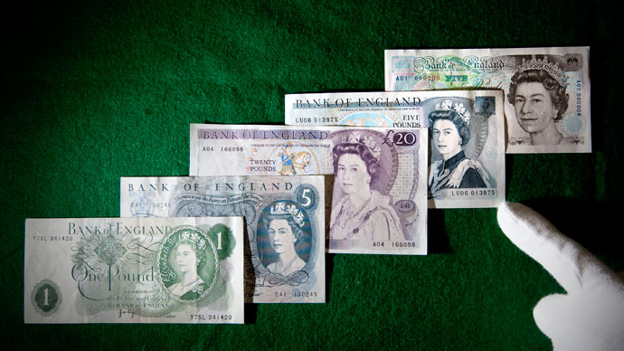 Sliding pound: British currency loses 67% of its value over last 30 years
