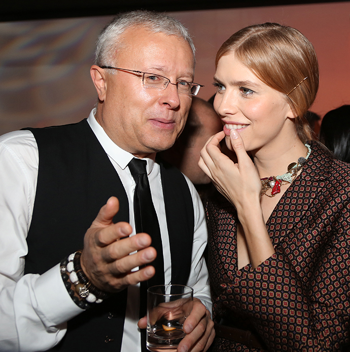 Alexander Lebedev, head of the National Reserve Corporation and owner of the National Reserve Bank, with his wife Yelena Perminova. (RIA Novosti /Ekaterina Chesnokova)