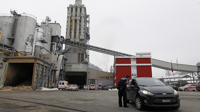 Three people killed, seven wounded in shooting at a factory in central Switzerland