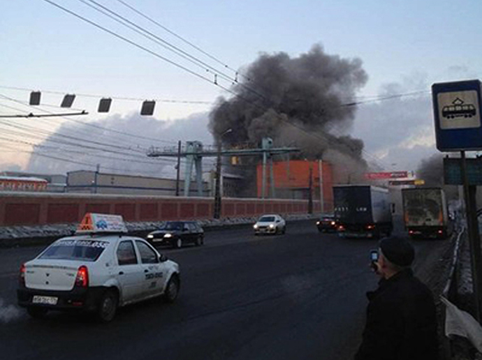The Chelyabinsk Zinc Plant after the meteorite fall. (RIA Novosti / Photo courtesy of Nakanune.RU)