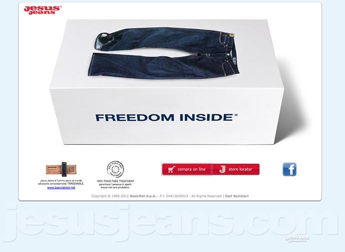 A screenshot from jesusjeans.com