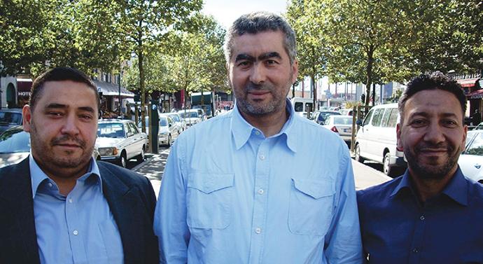 Redouane Ahrouch, Abdelhay Bakkali Tahiri (president of federation of Bruxelles-Capitale), Lhoucine Ait Jedding. (Image from islam2012.be)