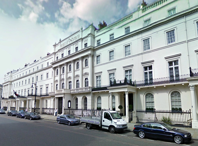 Deripaska reportedly owns this one of finest British property at Belgrave Square. (Image from maps.google)