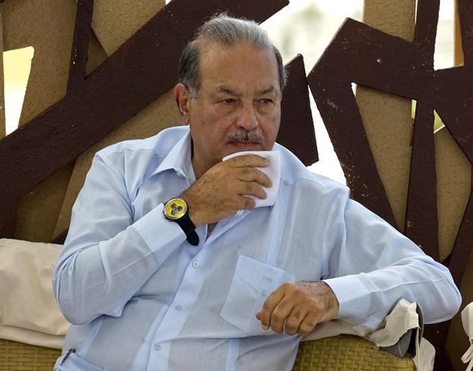 Mexican tycoon Carlos Slim. (AFP Photo / Luis Acosta)