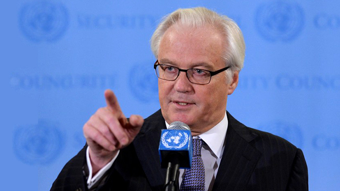 'US gives a wink and a nod to those sending Syrian rebels military aid' - Churkin